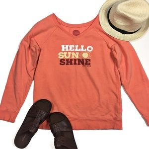 Life is Good Hello Sunshine Small Pullover Sweater